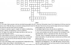 Black History Crossword   Wordmint   Black History Crossword Puzzle Printable