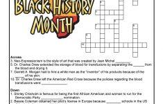 Black History Month Crossword Puzzle Worksheet | Woo! Jr. Kids   History Crossword Puzzles Printable