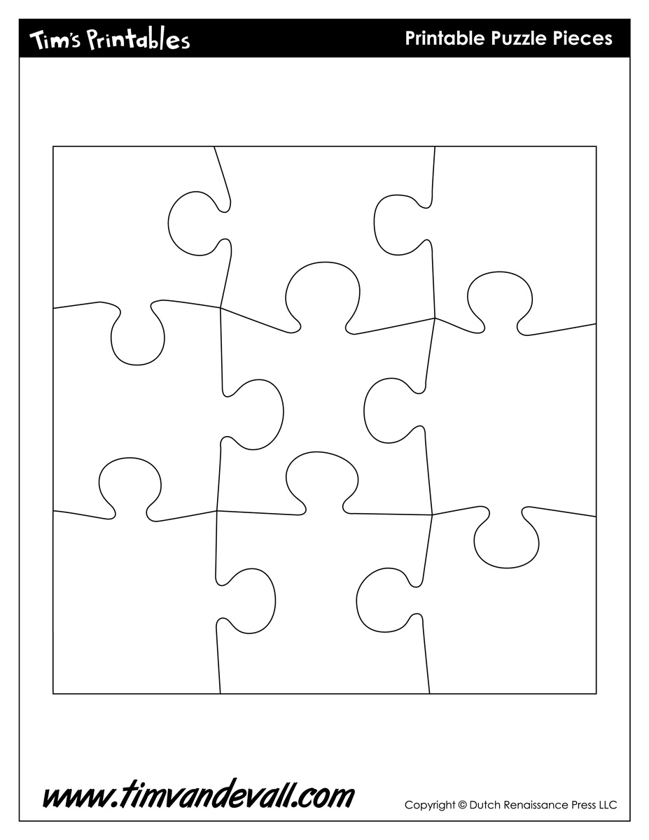 Blank Puzzle Piece Template - Free Single Puzzle Piece Images | Pdf - Printable Puzzle Pieces