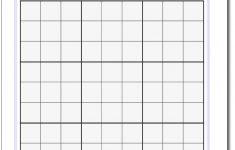 Blank Sudoku Grid | Math Worksheets | Sudoku Puzzles, Free Printable   Printable Sudoku Puzzle Grids