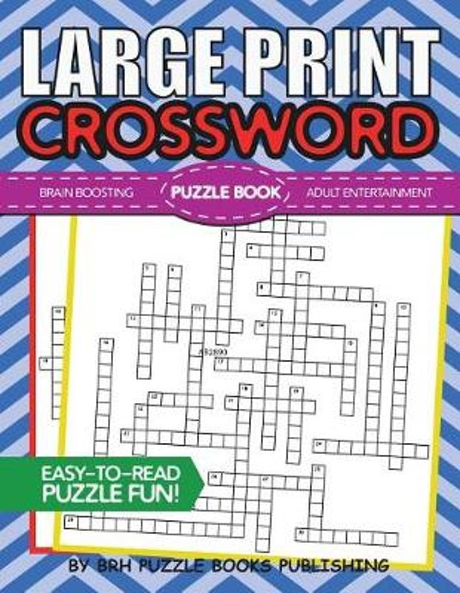 Bol | Large Print Crossword Puzzle Book, Brh Puzzle Books - Large Print Crossword Puzzle Books For Seniors