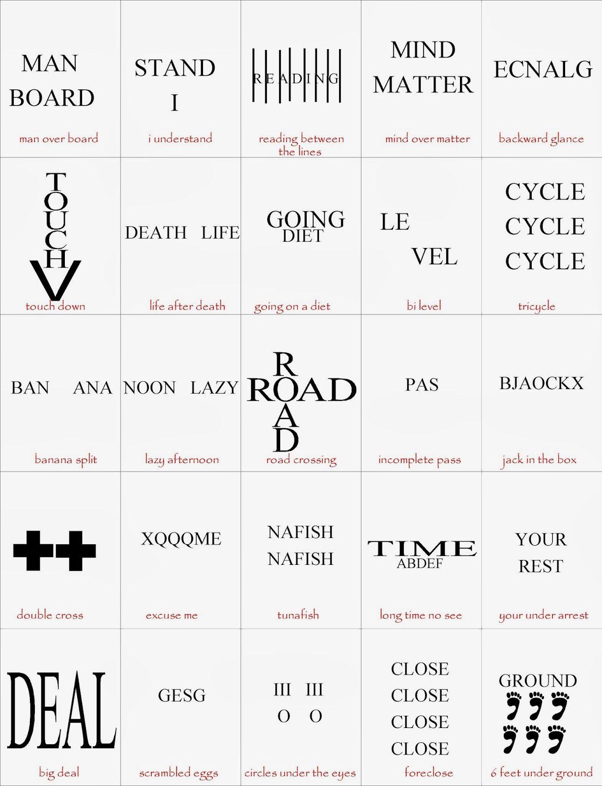 Brain Breaks | Visual Puzzles | Brain Teasers, Brain, Word Puzzles - Printable Visual Puzzles