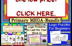 Brain Teasers Logic Puzzles : Primary Mega Bundle Gifted And   Printable Puzzles For Gifted Students
