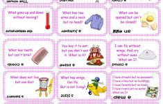 Brain Teasers, Riddles & Puzzles Card Game (Set 2) Worksheet   Free   Printable Puzzles And Brain Teasers