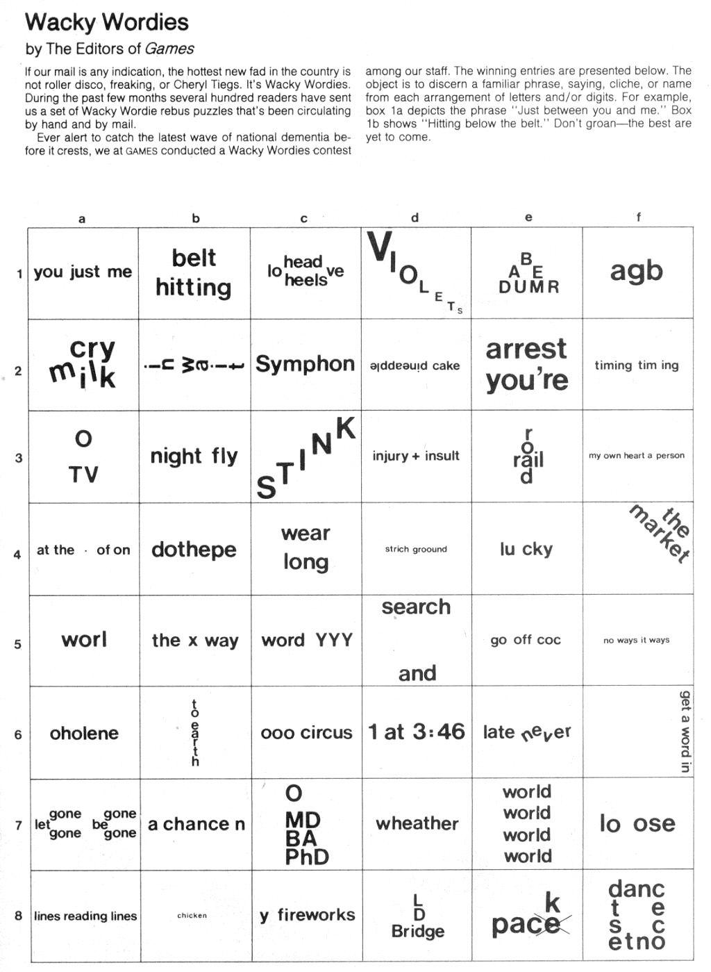 Brain Teasers: Wackie Wordies   School Stuff   Word Puzzles, Brain - Printable Puzzles Brain Teasers