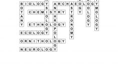 Branches Of Science Crossword Puzzle Worksheet   Printable Science Crossword Puzzles