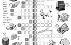 British Vs American English – Crossword Worksheet – Free Esl – Printable Crossword Uk