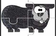 Brown Bear #1 5 Puzzles | Prekautism | Preschool Math, Free   Printable Jigsaw Puzzles Animals