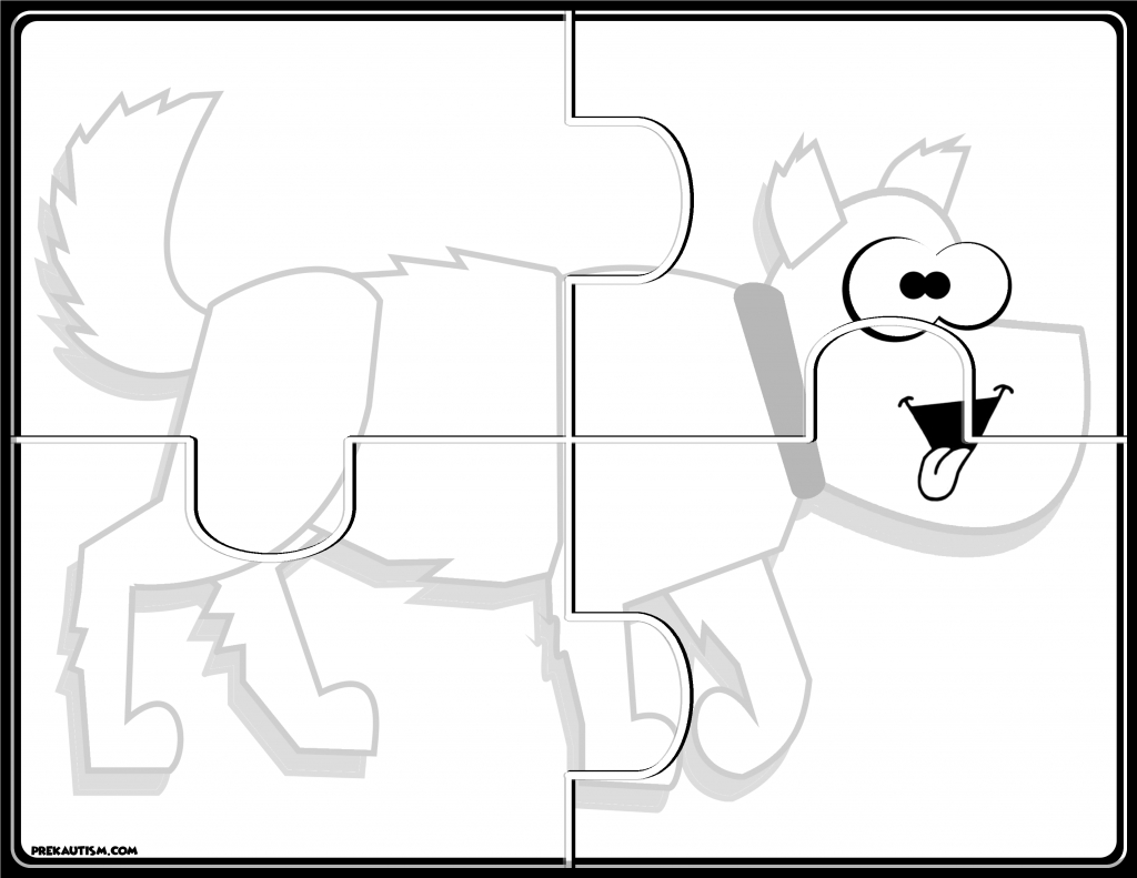 Brown Bear #1-5 Puzzles | Prekautism | Puzzle, Jigsaw Puzzles - Printable Jigsaw Puzzles Animals