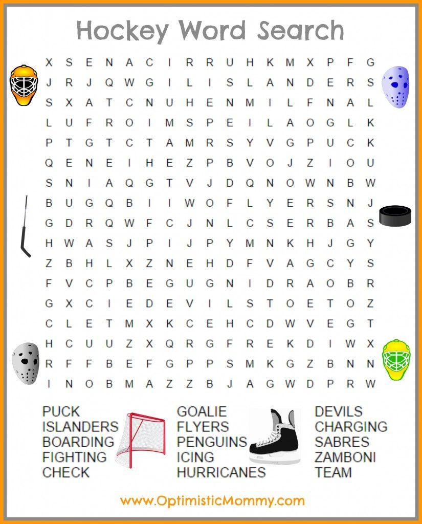 Buffalo Wings & Rings Ballpark-Inspired Menu + Free Printable | The - Printable Hockey Crossword