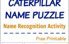 Busy Hands: Caterpillar Name Puzzle (Free Printable) | Busy Hands   Printable Name Puzzles For Preschoolers