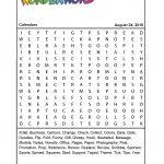 Calendars   Printable Wonderword Puzzles