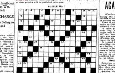 Can You Solve The Star's First Ever Crossword Puzzle From 1924   Printable Crossword Metro