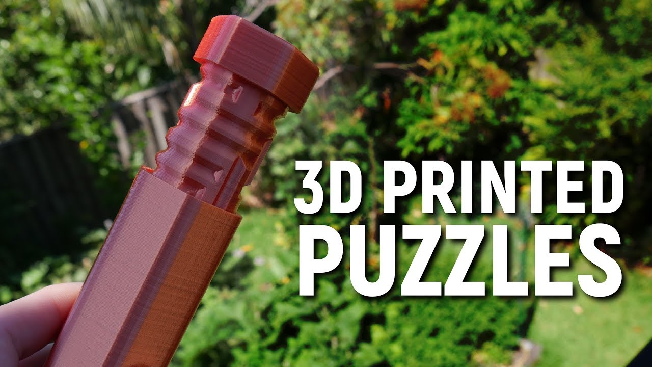 Can You Solve These 3D Printed Puzzles??? - Youtube - 3D Printable Lock Puzzle