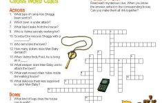 Can You Solve This Scooby Crossword Puzzle? Print Or Repin So You   Printable Mystery Puzzles