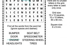 Car Parts Word Search Puzzle | Free Printable Puzzle Games   Car Crossword Puzzles Printable