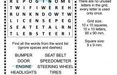 Car Parts Word Search Puzzle   Free Printable Puzzle Games   Printable Automotive Crossword Puzzles