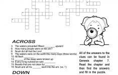 Ccbc Kids Corner: Scripture Search Crossword #2   Printable Crossword #2
