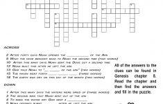 Ccbc Kids Corner: Scripture Search Crossword #3 Genesis 8   Printable Crossword Puzzles #3