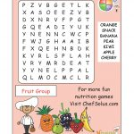 Challenge Your Little Chefs To A Fruit Group Word Search   Printable Nutrition Puzzles