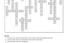 Chapter 14 The Solar System   Solar System Crossword Puzzle Printable