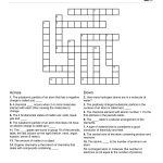Chemistry Themed Crossword Puzzle | Free Printable Children's   Free   Free Printable Themed Crossword Puzzles