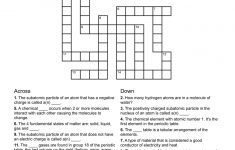 Chemistry Themed Crossword Puzzle   Free Printable Children's   Free   Printable Junior Crossword Puzzles