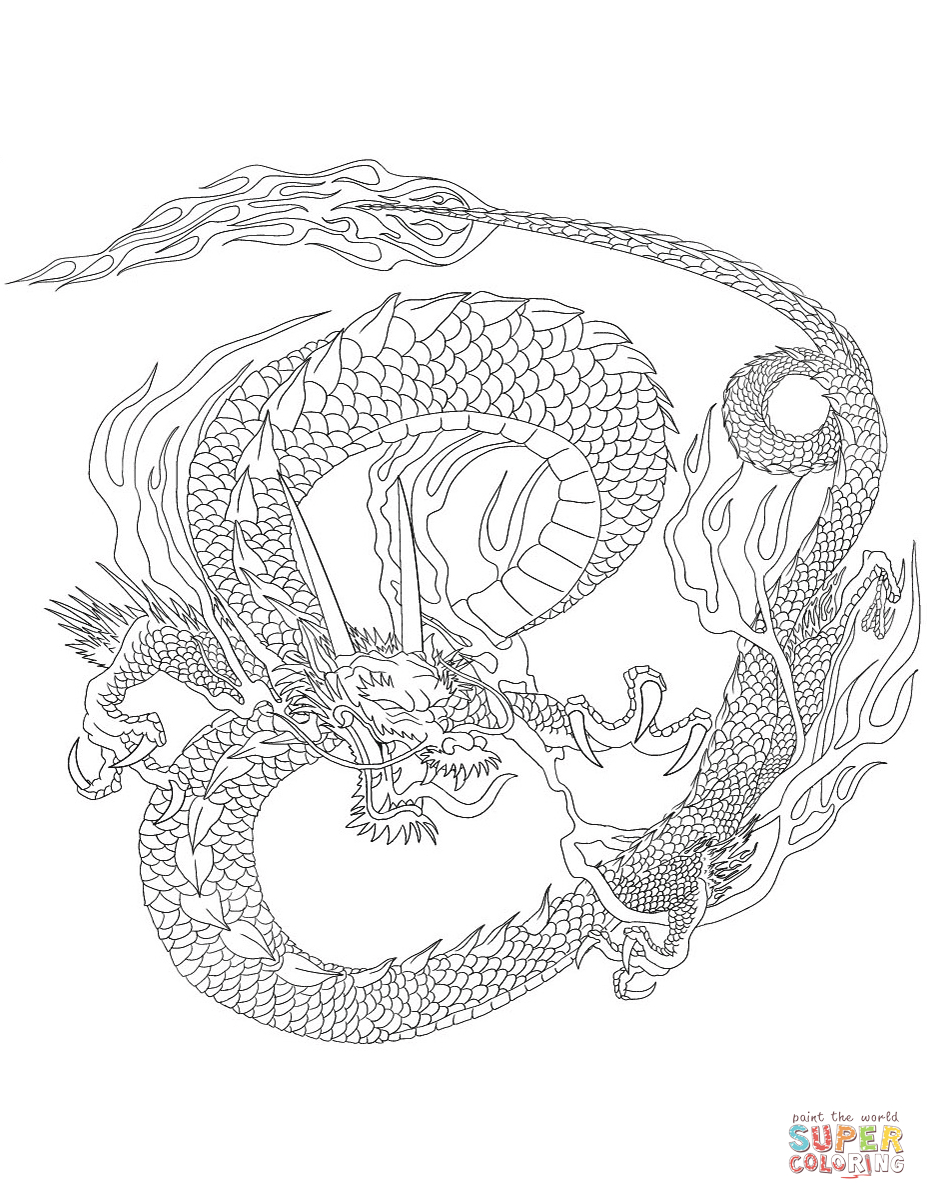 Chinese Dragon Coloring Page | Free Printable Coloring Pages - Printable Dragon Puzzle