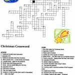 Christmas Angel Crossword Puzzle | Christmas | Christmas Crossword   Printable Xmas Crossword Puzzles