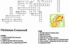 Christmas Angel Crossword Puzzle | Christmas | Christmas Crossword   Printable Xmas Crossword Puzzles