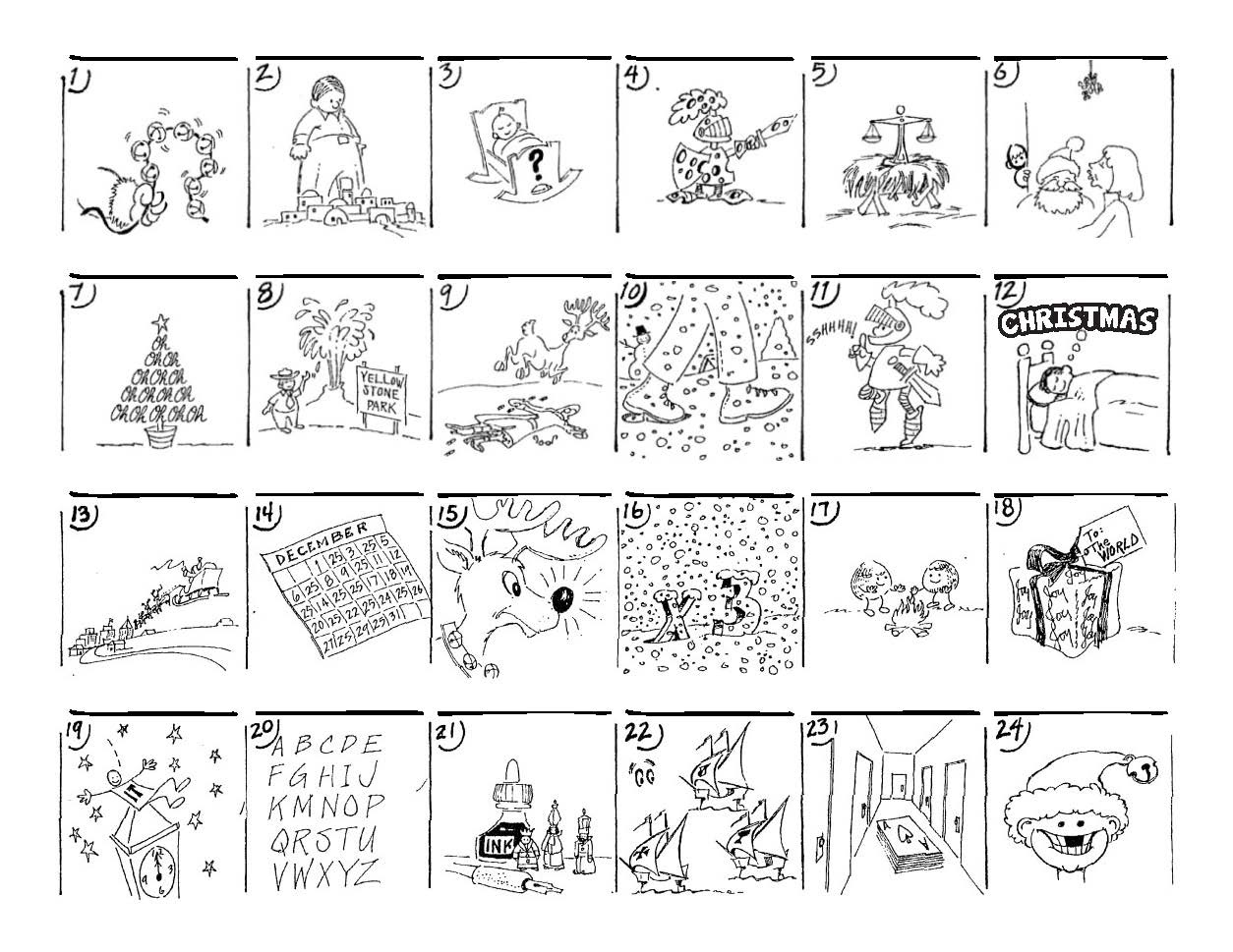 Christmas Carol Puzzles – The Button-Down Mind - Printable Christmas Puzzles And Quizzes