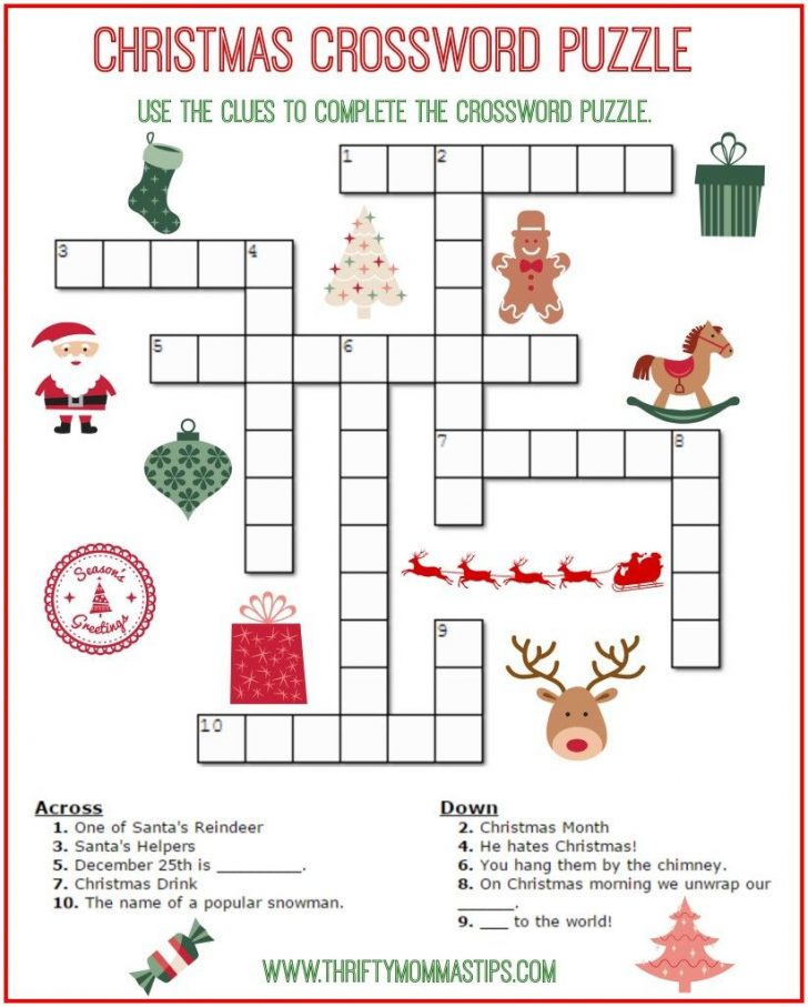 Printable Crosswords For 6 Year Olds