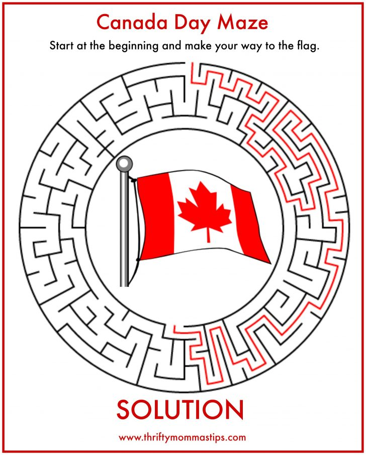 Printable Puzzle Of Canada