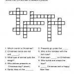 Christmas Crossword Puzzle: Uncover Christmas Words In This   Crossword Puzzles For Esl Students Printable