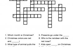 Christmas Crossword Puzzles   Best Coloring Pages For Kids   Printable Crossword Puzzles Nov 2018