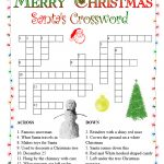 Christmas Crossword Puzzles   Best Coloring Pages For Kids   Printable Xmas Crossword Puzzles