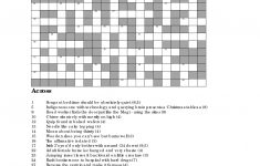 Christmas Crossword Puzzles To Print | The Completely Crackers   Cryptic Crossword Puzzles Printable Free