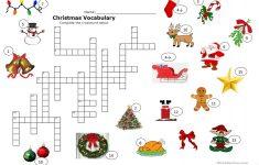 Christmas Crossword Worksheet   Free Esl Printable Worksheets Made   Free Printable Xmas Crossword