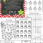 Christmas Math Worksheets | Math Activities And Lessons | Christmas   Printable Puzzle Packets