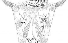 Christmas Nativity Scene Coloring Page | Free Printable Coloring Pages   Printable Nativity Puzzle