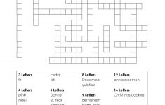 Christmas Printable Puzzle. Free Fill In The Blanks. | Christmas   Printable Crossword Puzzle For 8 Year Old