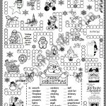 Christmas Puzzle   Esl Worksheetsilvanija   Printable Puzzle Christmas