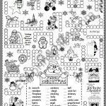Christmas Puzzle   Esl Worksheetsilvanija   Printable Santa Puzzle