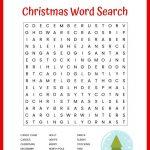 Christmas Word Search Free Printable For Kids Or Adults – Free – Christmas Crossword Puzzle Printable