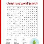 Christmas Word Search Free Printable For Kids Or Adults   Free Printable Christmas Crossword Puzzles