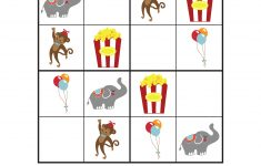 Circus Sudoku {Free Printables}   Gift Of Curiosity   Printable Puzzle Games For Preschoolers