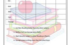 Classroom Intermediate Logic Puzzle | Printables | Logic Puzzles   Printable Deduction Puzzle