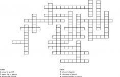 Classroom Objects Crossword   Wordmint   Crossword Puzzle Printable In Spanish
