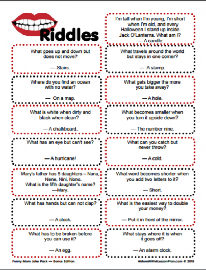Clever Riddles For Kids With Answers (Printable Riddles!) | For The - Printable Puzzles With Answers