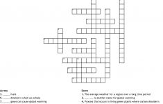 Climate Change Crossword   Wordmint   Global Warming Crossword Puzzle Printable